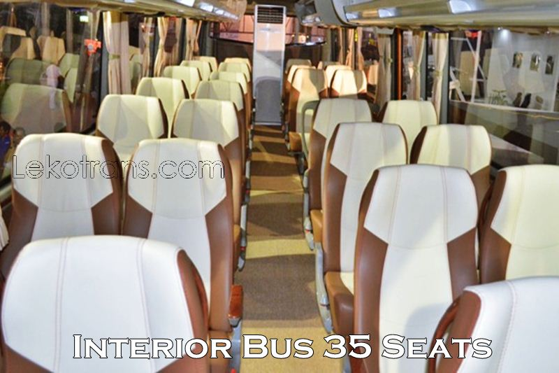 Interior Bus 35 Seats Rental Bali