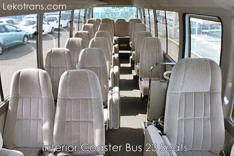 Interior Coaster Bus 23 seater