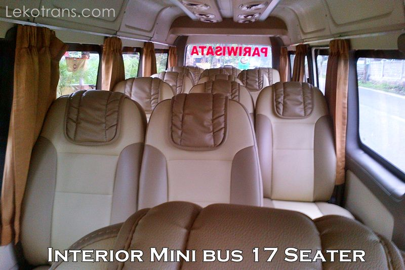 Interior Mini bus 17 Seats Rental Bali