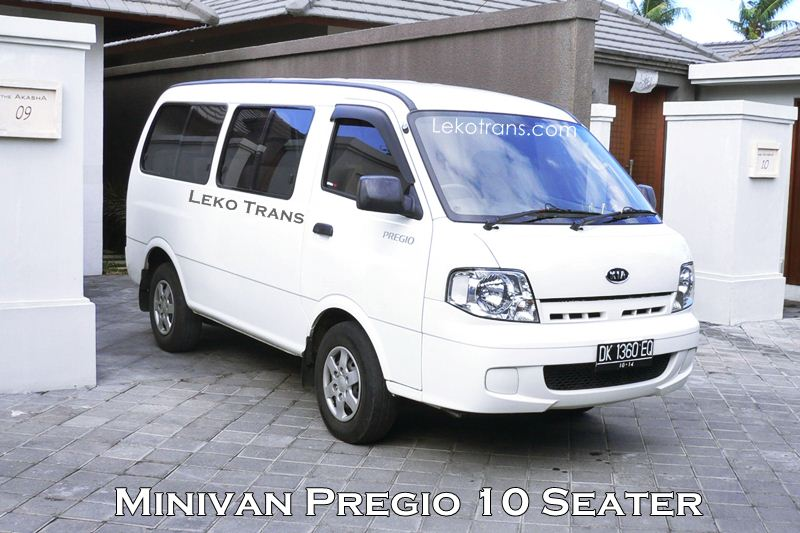 Interior Kia Pregio 10 Seats Rent Bali